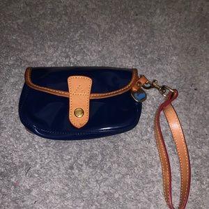 DOONEY & BOURKE navy wristlet patent leather